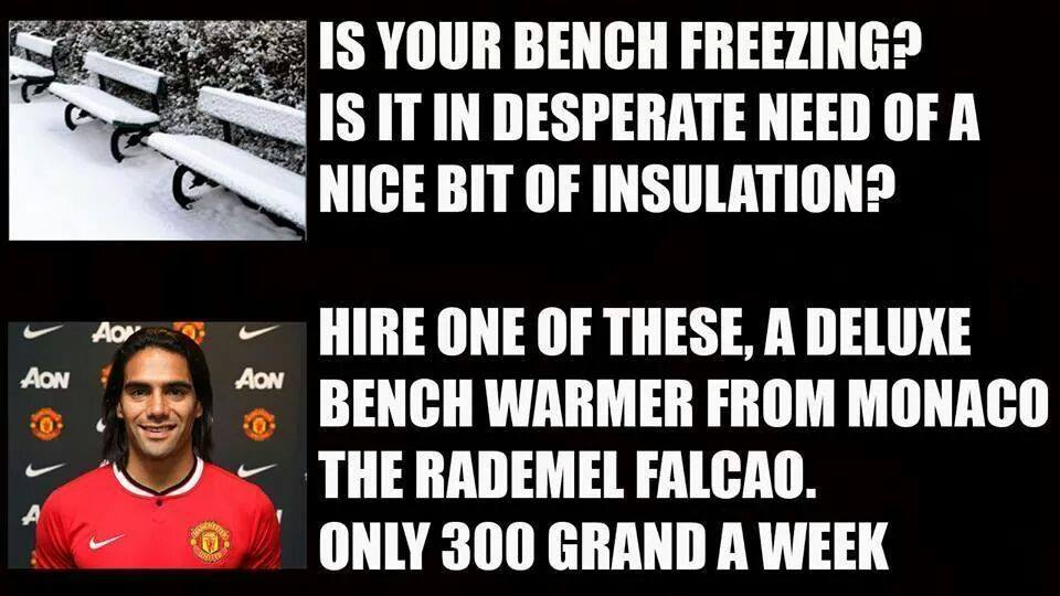 Radamel Falcao Expert Bench Warmer